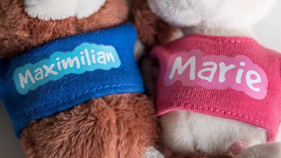 Marie und Maximilian sind die beliebtesten Vornamen 2017