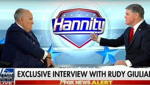 Rudy Giuliani gibt bei Hannity auf Fox News zu, dass Donald Trump Geld an Stormy Daniels gezahlt hat