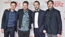 """Die Band Revolverheld bei der Film-Premiere von """"Das bescheuerte Herz"""""""