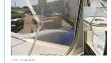 Das Fenster der Boeing 737-700 von Southwest Airlines