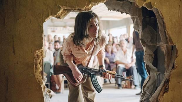 """Rosamund Pike als deutsche Terroristin Brigitte Kuhlmann in """"7 Tage in Entebbe"""""""
