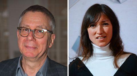 """WDR-Fernsehspielchef Gebhard Henke (l.) wird im """"Spiegel"""" von sechs Frauen, darunter der Schauspielerin und Schriftstellerin Charlotte Roche (r.), der sexuellen Belästigung bezichtigt"""