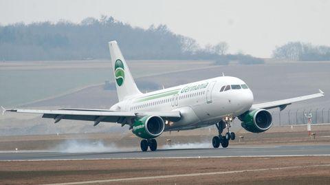Ein Airbus der Fluggesellschaft Germania musste am Freitagabend zumFlughafen Münster/Osnabrück.