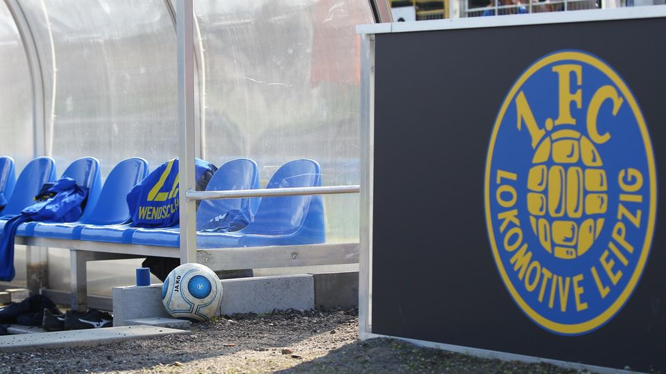 DieAuswechselbank des 1. FC Lokomotive Leipzig