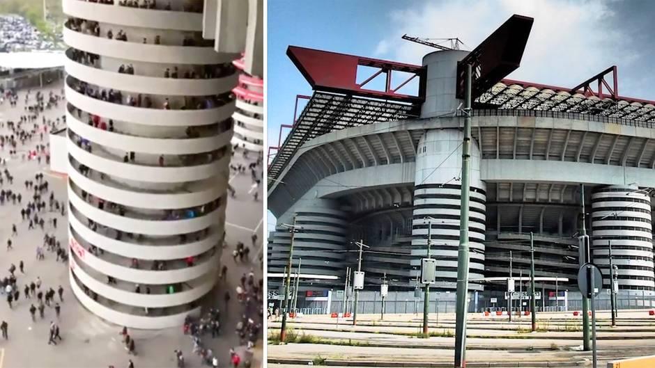 Weltberühmter Fußball-Tempel: Dreht sich das Mailänder Stadion? Dieses Phänomen macht alle verrückt