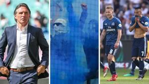 Fußball-Bundesliga: Vfl-Wolfsburg Trainer Bruno Labbadia, HSV-Fans, HSV-Spieler Lewis Holtby und Bobby Wood