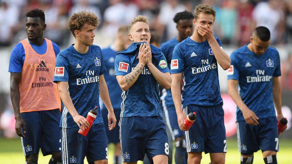 Bundesliga-Abstiegskampf HSV-Spieler