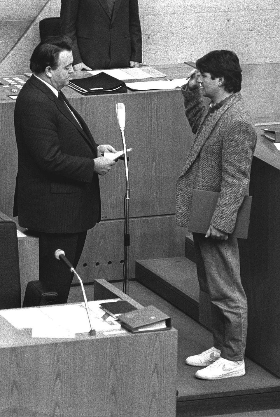 Joschka Fischer 1985