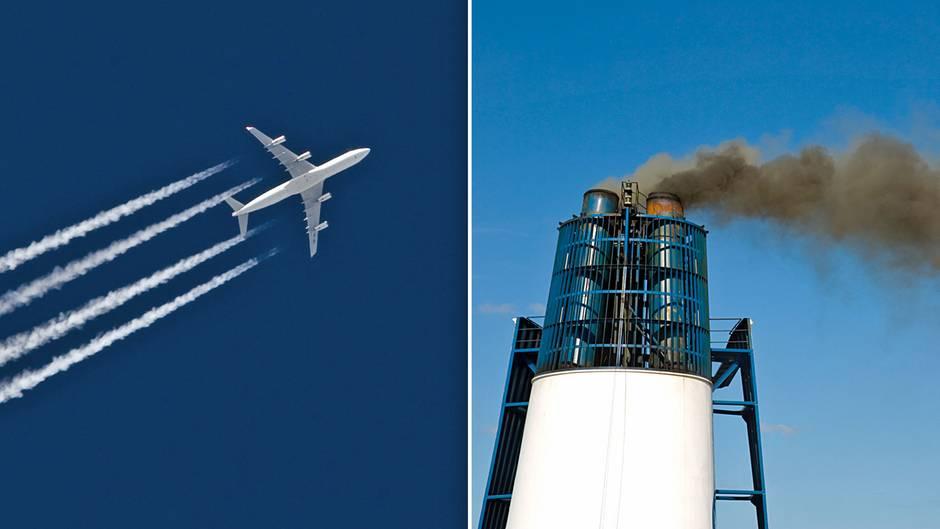 Treibhausgas-Emissionen durch Flugzeuge und Kreuzfahrtschiffe: Allein deutsche Reisende verursachten 329Millionen Tonnen CO2-Äquivalente.Forscher fordern, generell weniger zu fliegen und mehr Ausgleichsmaßnahmen für den CO2-Ausstoß zu bezahlen.