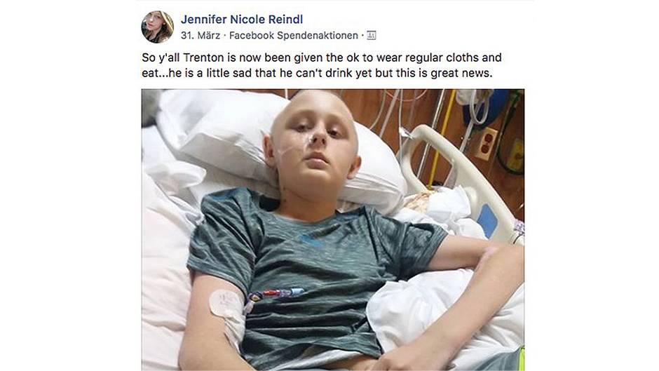 Alabama, USA: Hirntoter Junge erwacht aus dem Koma. Trenton im Krankenhausbett.