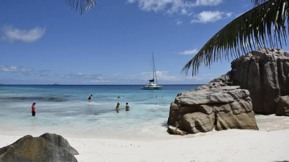 Die Insel La Digue auf den Seychellen