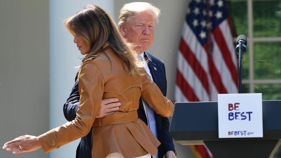 Sonderlicher Fotodeal: Wer bestimmte Bilder von Melania Trump zeigt, überweist indirekt Geld an die Trumps