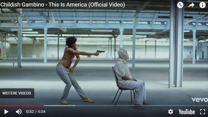 """Szene aus dem Musikvideo """"This Is America"""" von Childish Gambino"""