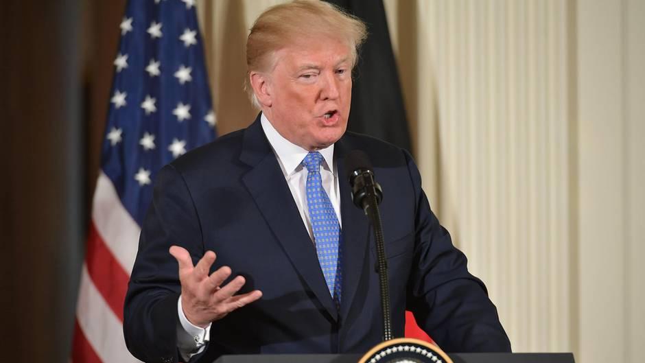 US-Präsident Donald Trump verkündet seine Entscheidung zum Atomabkommen mit dem Iran