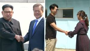 Koreakonflikt: Händeschütteln für die Wiedervereinigung