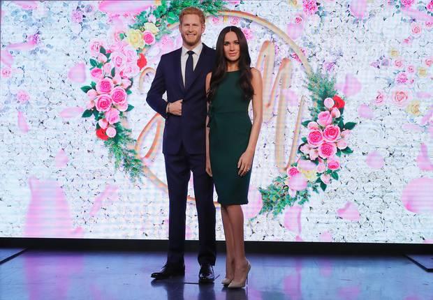 Prinz Harry und Meghan Markle als Wachsfiguren bei Madame Tussauds