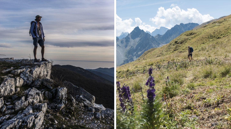 Über alle Berge: Auf 2310 Metern führt ein alter Römerpass (r.) von der Schweiz nach Italien