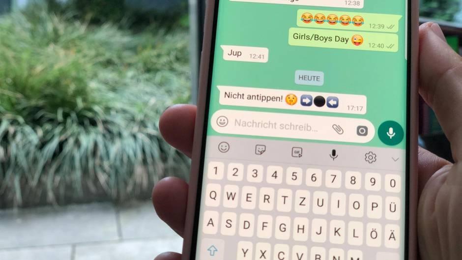 Whatsapp schwarzer Punkt Achtung