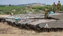 Israelische Panzer auf den von Israel besetzten Golanhöhen