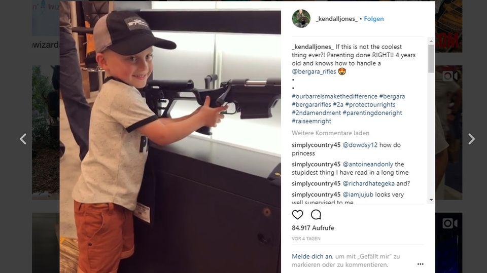 Schock-Video von NRA-Jahresversammlung: Vierjähriger lädt Waffe wie ein Profi