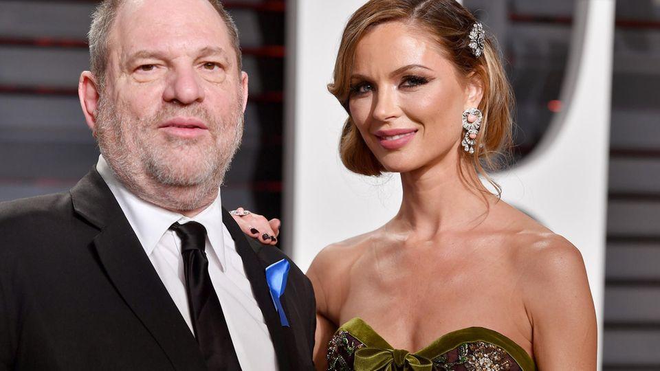 Harvey Weinstein und Georgina Chapman bei der Vanity Fair Oscar Party im Februar 2017