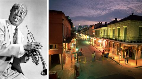 Louis Armstrong stammt aus New Orleans