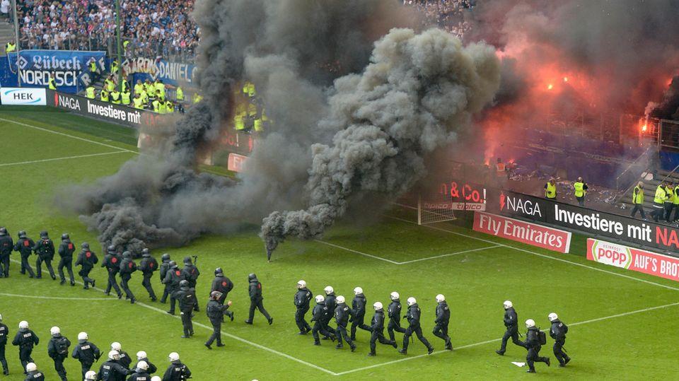 Rauch in Hamburg