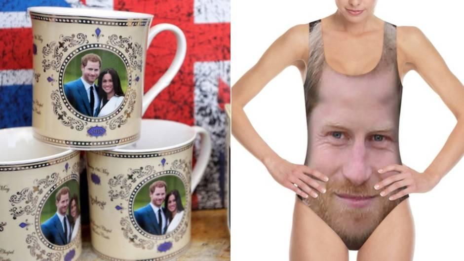Meghan Markle und Harry: Prinz Harry als Badeanzug? Das sind die skurrilsten Hochzeitssouvenirs