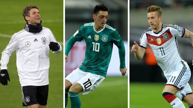 WM-Kader - Offensives Mittelfeld mit Thomas Müller, Mesut Özil und Marco Reus
