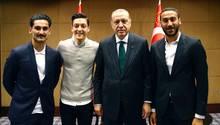 Erdogan, Özil, Gündogan