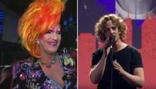 Drag-Queen und ESC-Fan Olivia Jones und Deutschlandvertretung Michael Schulte