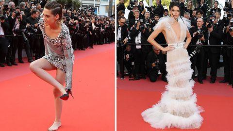 Filmfestival Cannes: Kristen Stewart braucht keine Schuhe und Kendall Jenner keinen BH