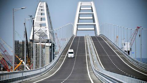 Brücke zwischen der Krim und Russland