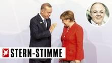 Erdogan und Kanzlerin Merkel beim G20-Gipfel im letzten Jahr