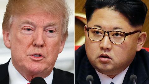 US-Präsident Donald Trump (l.) und Nordkoreas Machthaber Kim Jong Un wollen sich eigentlich am 12. Juni zu Gesprächen treffen