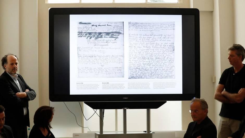 Hinter Packpapier verborgene Texte von Anne Frank wurden entziffert