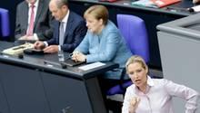 AfD-Fraktionschefin Alice Weidel von Bundestagspräsident Wolfang Schäuble zur Ordnung aufgerufen