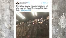 Leere Reihen: Bei Lars von Triers neuem Film verließen die Zuschauer in Cannes scharenweise den Saal