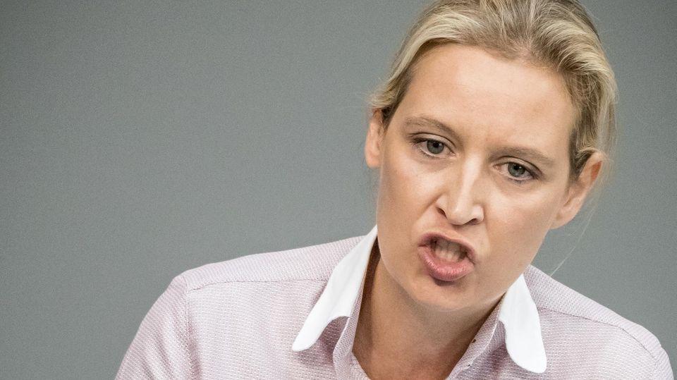 AfD-Fraktionschefin Alice Weidel wettert gegen Steuerpolitik