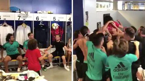 Real Madrid: So glorreich kickt Marcelos Sohn in der Kabine