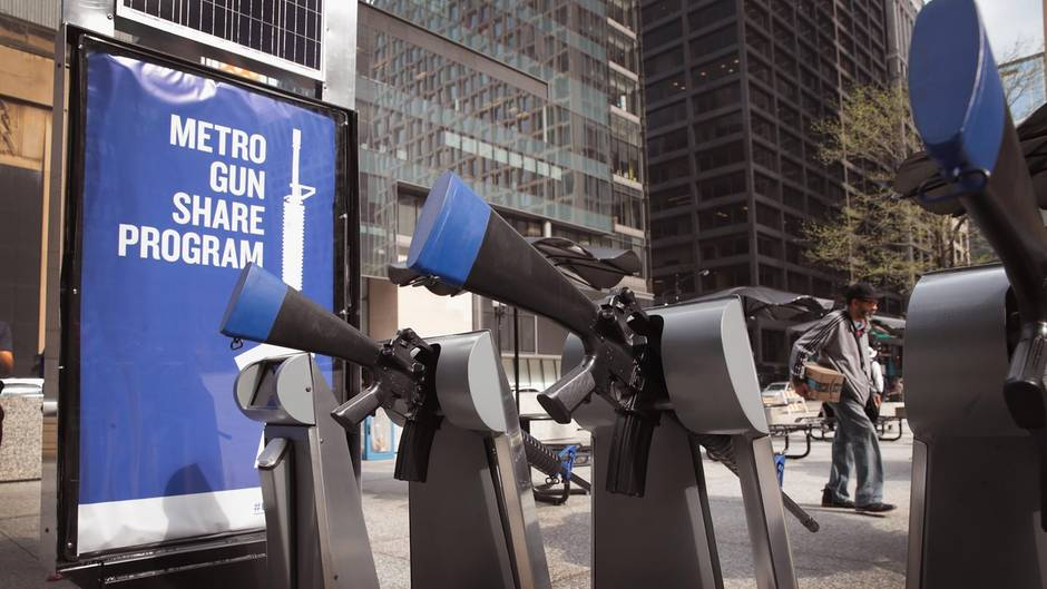 """Metro Gun Share Program: Sturmgewehr zum Ausleihen? Warum in Chicago eine """"Gun-sharing-Station"""" steht"""