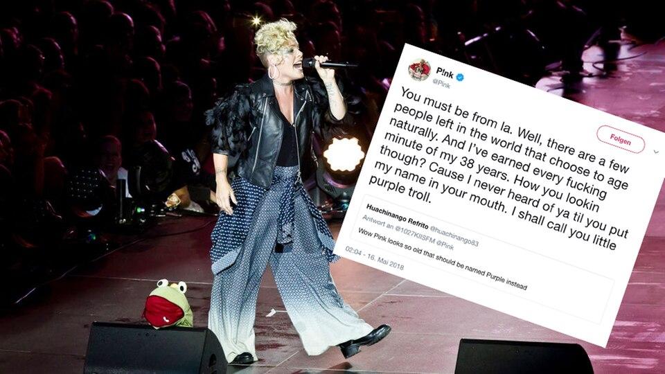 US-Sängerin Pink bei einem Konzert