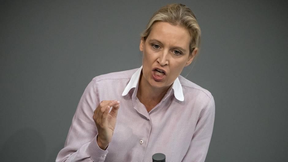 AfD-Fraktionschefin Alice Weidel im Bundestag