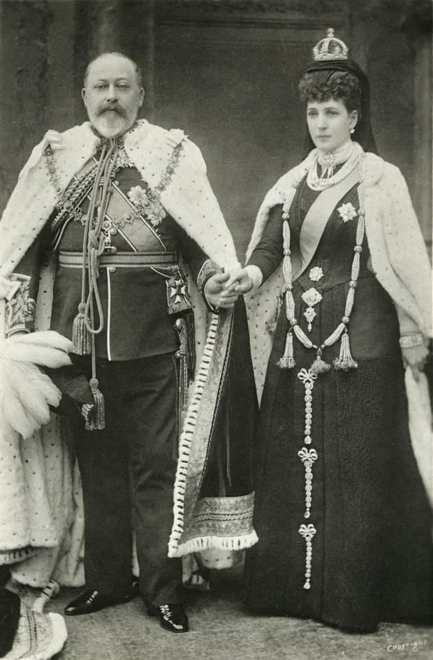 Doppelbildnis König Edward VII. mi Gemahlin Alexandra, geb. Prinzessin von Dänemark