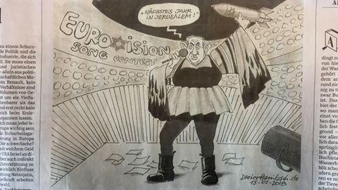 Netanjahu-Karikatur von Dieter Hanitzsch erzeugt Antisemitismus-Vorwürfe