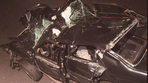 Der Unfallwagen, in dem Prinzessin Diana 1997 in Paris tödlich verunglückte