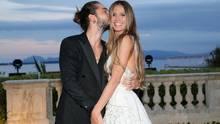 Tom Kaulitz und Heidi Klum ganz innig auf der Terrasse des Hôtel du Cap-Eden-Roc