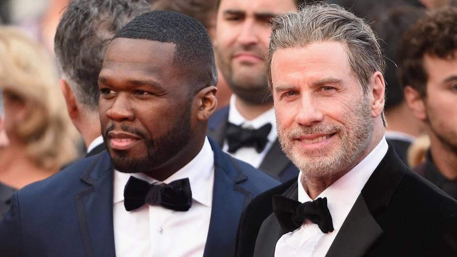 Party in Cannes: Spontane Tanzeinlage – John Travolta überrascht 50 Cent auf der Bühne