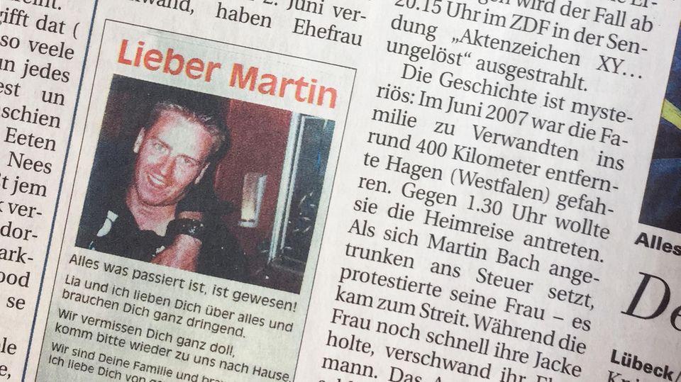 Fall Martin Bach - die Fernsehfahndung