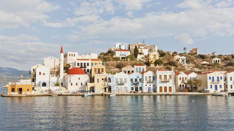 Megisti auf der Insel Kastellorizo: Die griechische Insel liegt nur wenige Kilometer vor der türkischen Südküste.